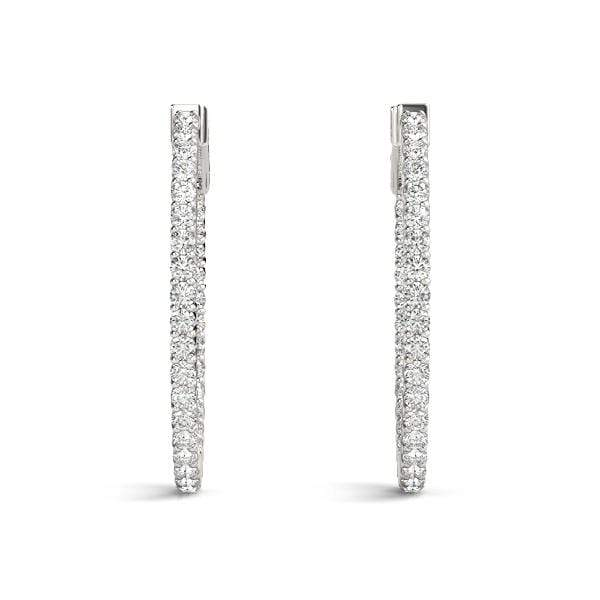 Vogue Diamond Hoop Earrings- 1.25 Cttw | The Carat Lab