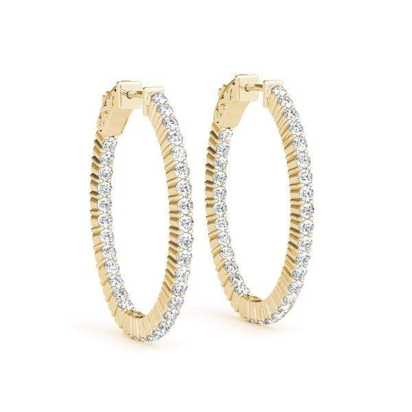 Vogue Diamond Hoop Earrings- 3 Cttw | The Carat Lab