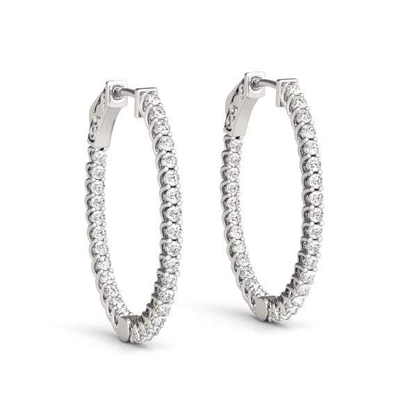 Cradle Diamond Hoop Earrings- 3 Cttw | The Carat Lab