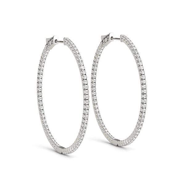 Delicate Diamond Hoop Earrings- 2 Cttw | The Carat Lab