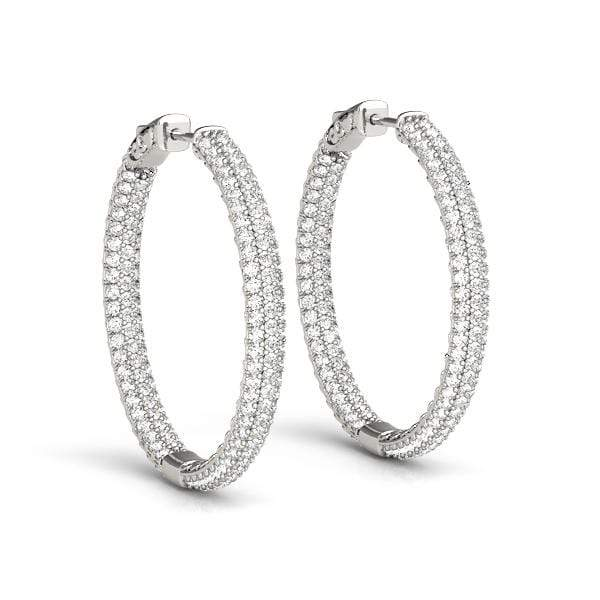 Enhanced Diamond Hoop Earrings- 1 Cttw | The Carat Lab