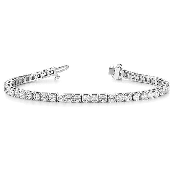 White Gold Luxury Diamond Bracelet- 2 Cttw