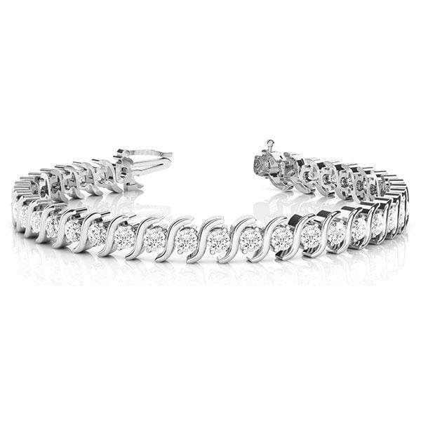 S Diamond Bracelet- 2.5 Cttw | The Carat Lab