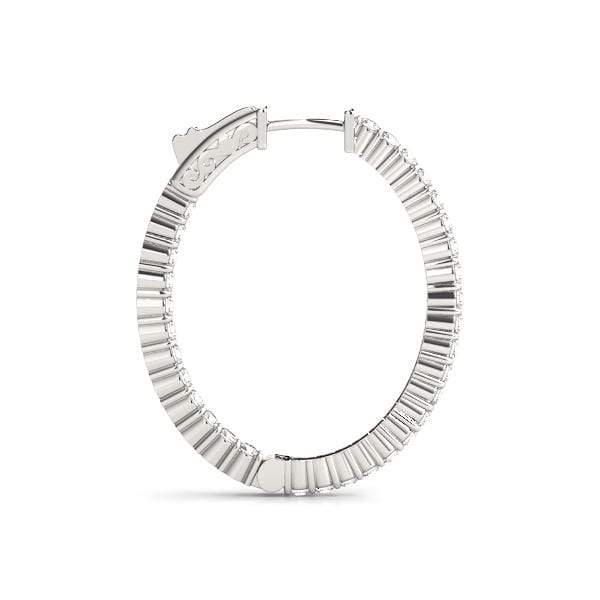 Vogue Diamond Hoop Earrings- 2 Cttw | The Carat Lab
