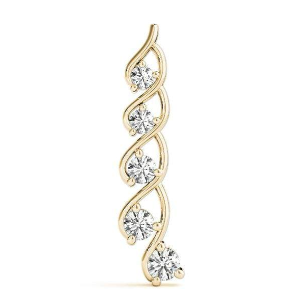 Wishful Journey Diamond Pendant- 1 Cttw | The Carat Lab