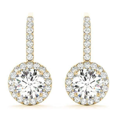 Celestial Diamond Halo Earrings- 0.64 Cttw | The Carat Lab
