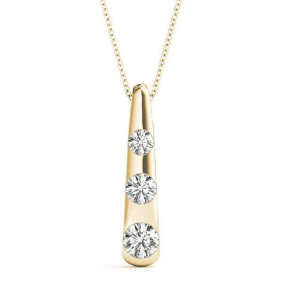 Dewdrop 3 Diamond Pendant- 0.50 Cttw | The Carat Lab