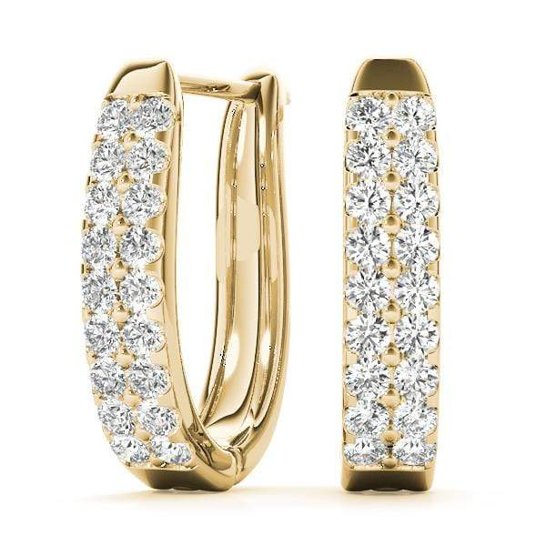 Double Strand Diamond Hoop Earrings- 0.45 Cttw | The Carat Lab