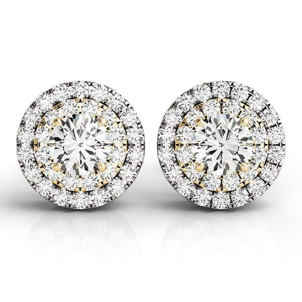 Ethereal Diamond Halo Earrings- 0.50 Cttw | The Carat Lab