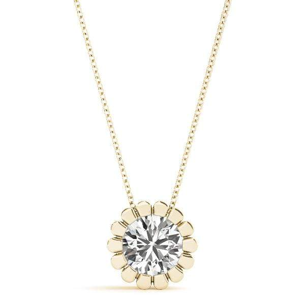 Flower Solitaire Diamond Pendant- 0.50 Cttw | The Carat Lab