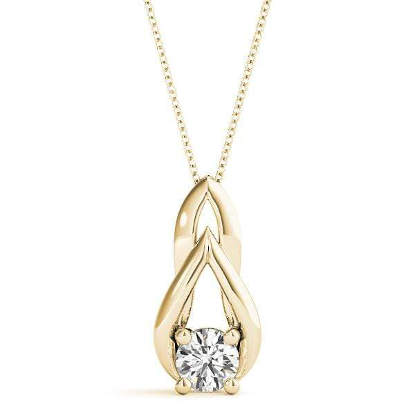 Grace Diamond Solitare Pendant- 0.35 Cttw | The Carat Lab