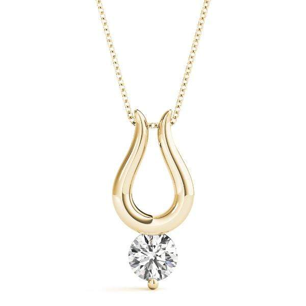Lucky Diamond Solitare Pendant- 0.25 Cttw | The Carat Lab