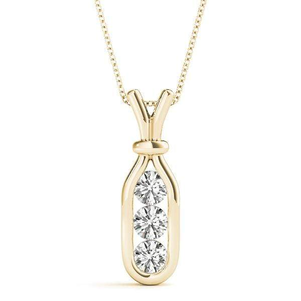 Message in a Bottle 3 Diamond Pendant- 0.75 Cttw | The Carat Lab