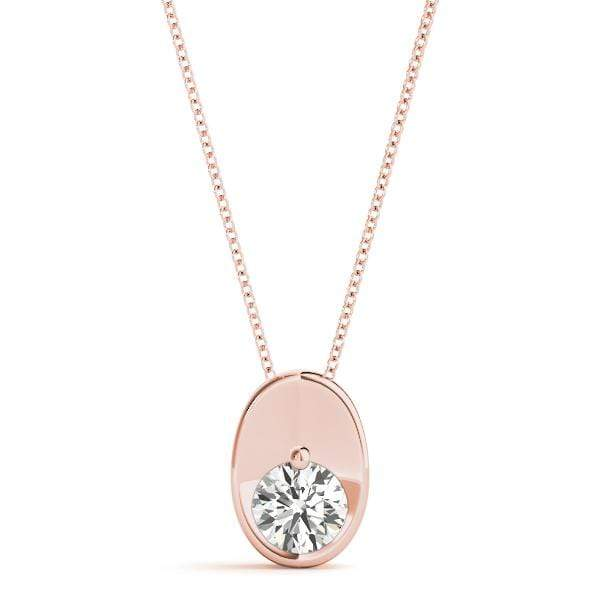 Oval Solitare Diamond Pendant- 0.25 Cttw | The Carat Lab