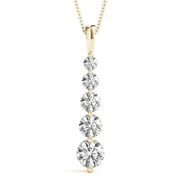 Ovation Diamond Journey Pendant- 1 Cttw | The Carat Lab