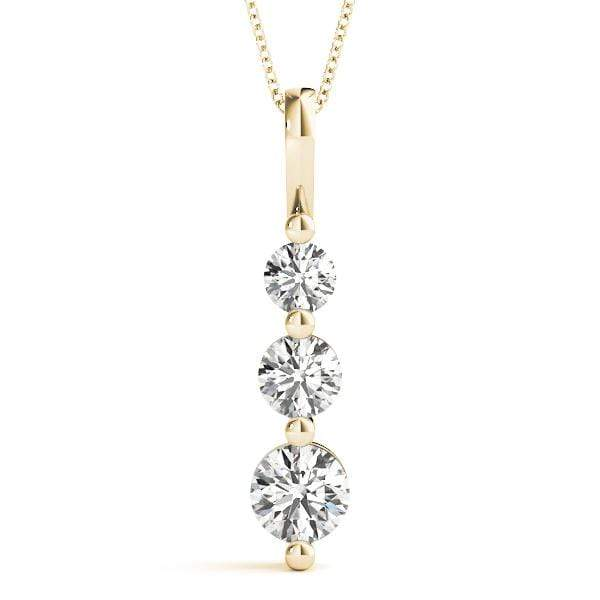 Solitary 3 Diamond Pendant- 0.25 Cttw | The Carat Lab