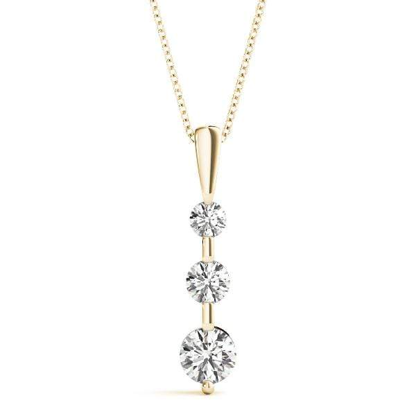 Solitary 3 Diamond Pendant- 0.25 Cttw