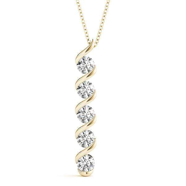 Swaddle Diamond Pendant- 0.50 Cttw | The Carat Lab