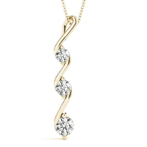 Swivel 3 Diamond Pendant- 0.25 Cttw | The Carat Lab