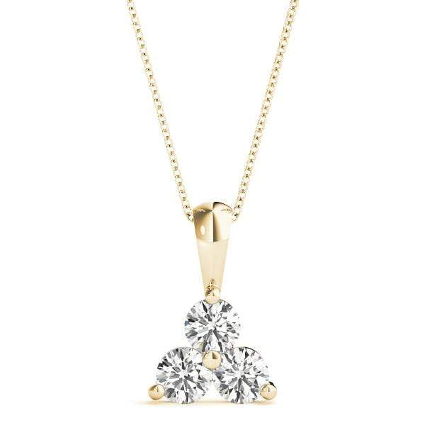 Triangle 3 Diamond Pendant- 1 Cttw | The Carat Lab