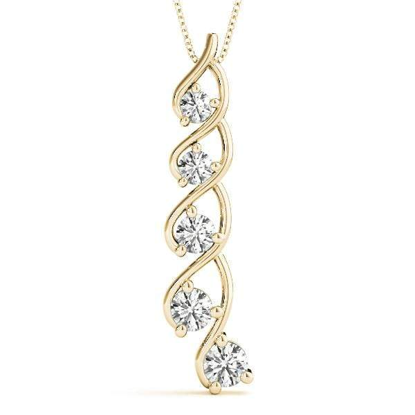 Wishful Journey Diamond Pendant- 0.73 Cttw | The Carat Lab