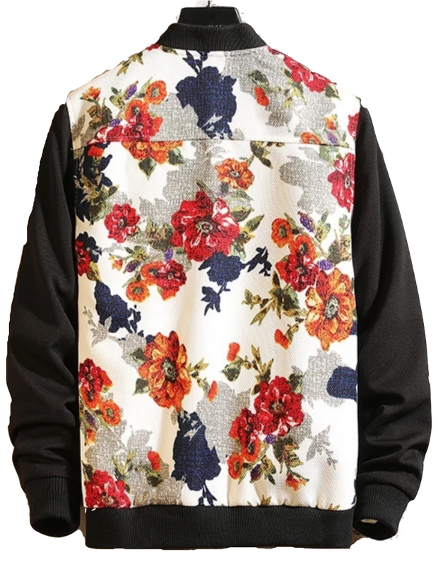 Red Floral Bomber Jacket