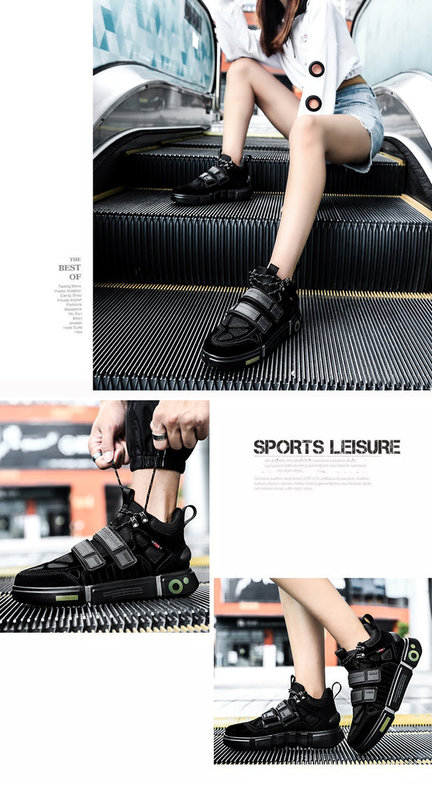 Black Tennis Sneakers