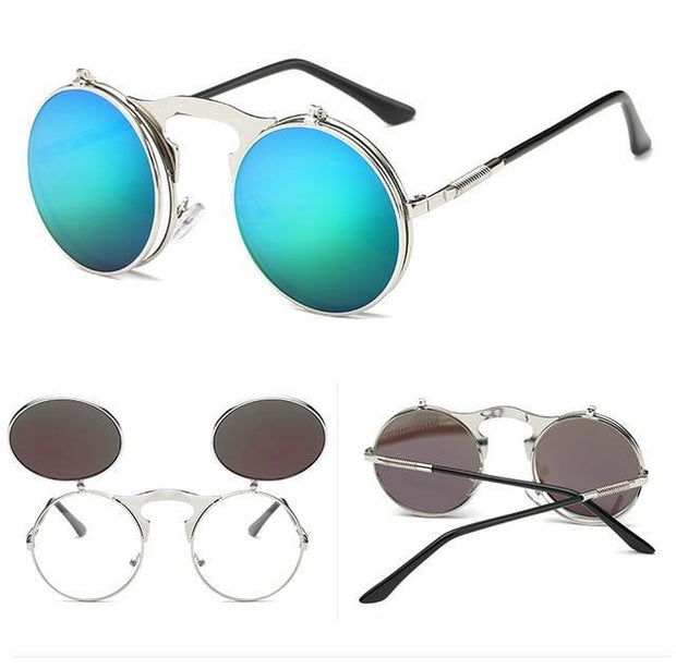 Retro Flip-Up Sunglasses