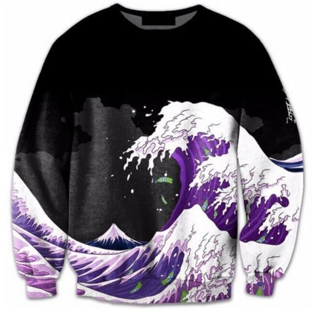Wave Black Sweater