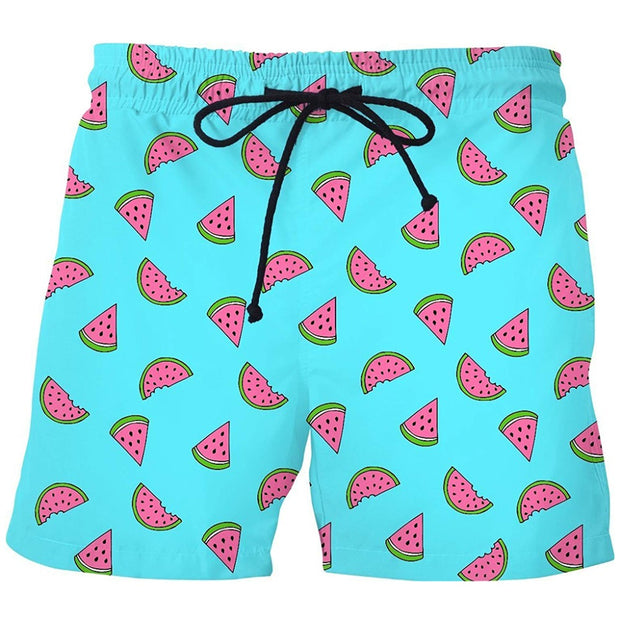 Watermelon Print Shorts