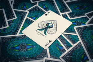 Peacocks Playing Cards