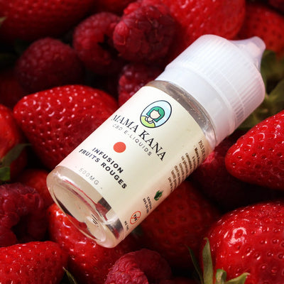 Infusion fruits rouges CBD 30ml – E-liquide CBD