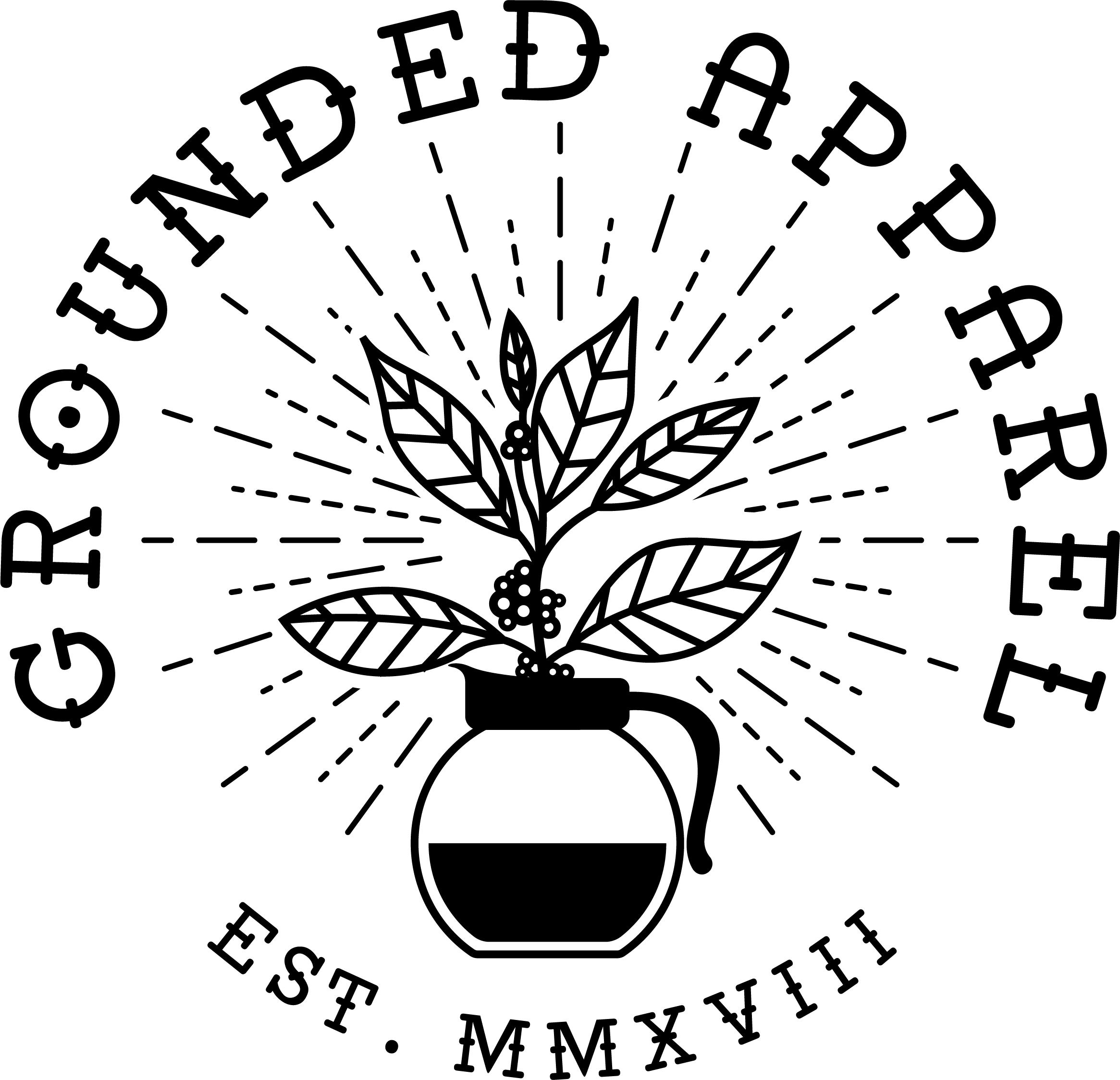 Grounded Apparel Logo In Black