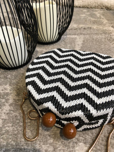 Zebra Round Clutch Bag
