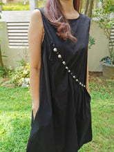 Load image into Gallery viewer, Pearlista Black Dress