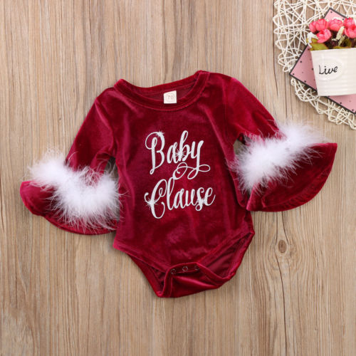 2019 New arrival Penuche Christmas Baby Girls Romper - babycatchy