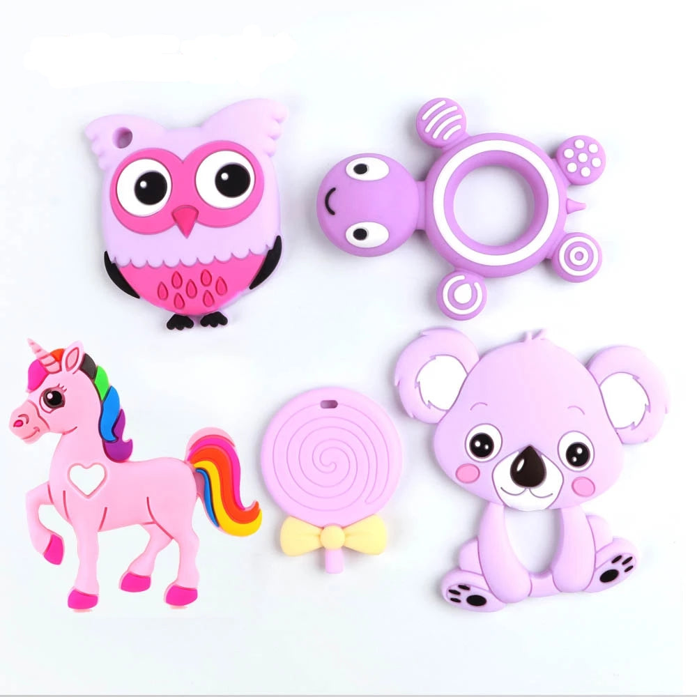 Silicone Teethers toy animals - babycatchy