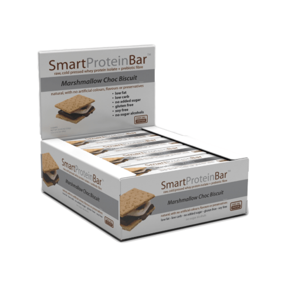 Smart Protein Bar Marshmallow Choc Biscuit Box by Smart Diet Solutions
