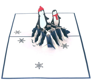 Paper Love-Penguins Pop Up Card-3d-lovepop-popup-cards