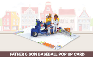 Paper Love-Dad and Son Baseball Pop Up Card-3d-lovepop-popup-cards