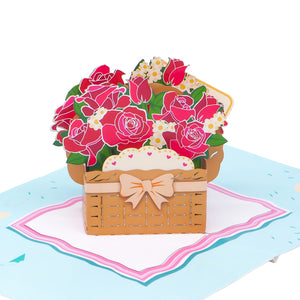 Paper Love-Flower Basket Pop Up Card-3d-lovepop-popup-cards