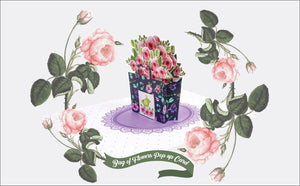 Paper Love-Bag of Flowers Pop Up Card-3d-lovepop-popup-cards