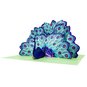 Paper Love-Peacock Pop Up Card-3d-lovepop-popup-cards