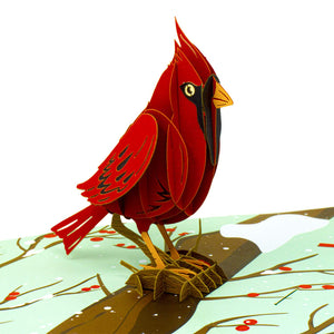 Cardinal Pop Up Card