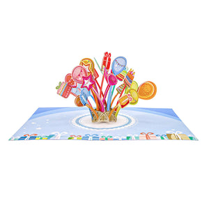Balloons Explosion Pop Up Birthday Card