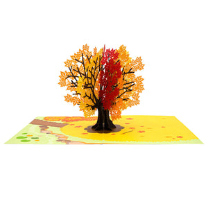 Autumn Maple Tree Pop Up Card