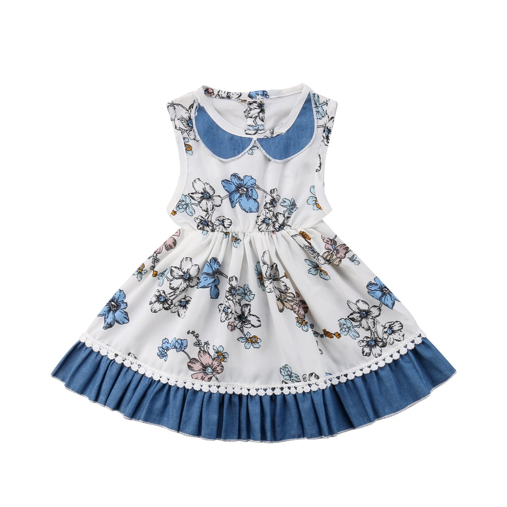 Princess Toddler Girls Floral Party Pageant Dress 1-5Y