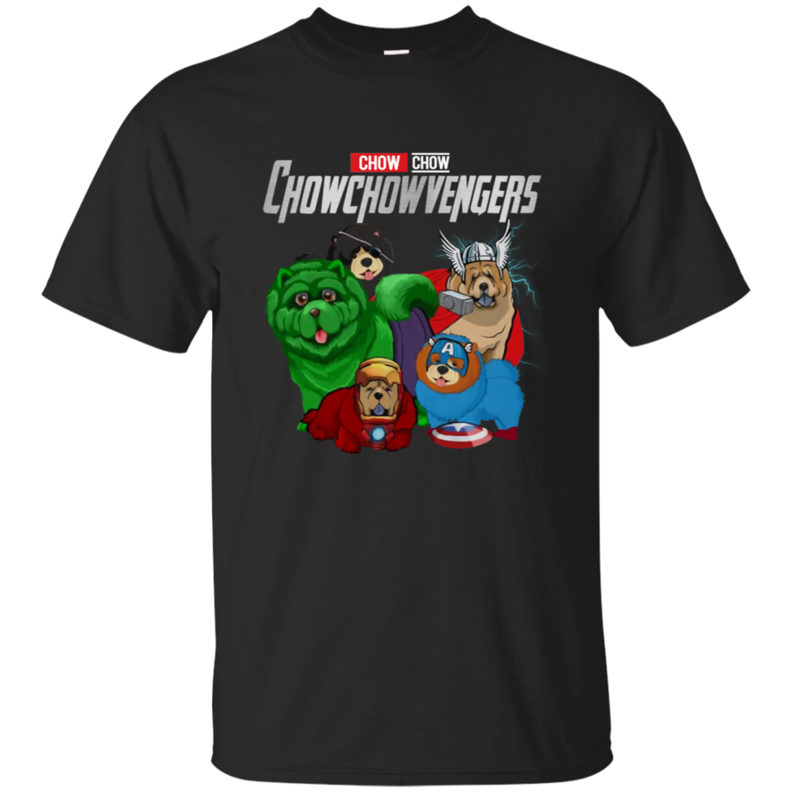 Funny Chowchow dog lovers Gift marvel avengers CHOWCHOWVENGERS T-shirt