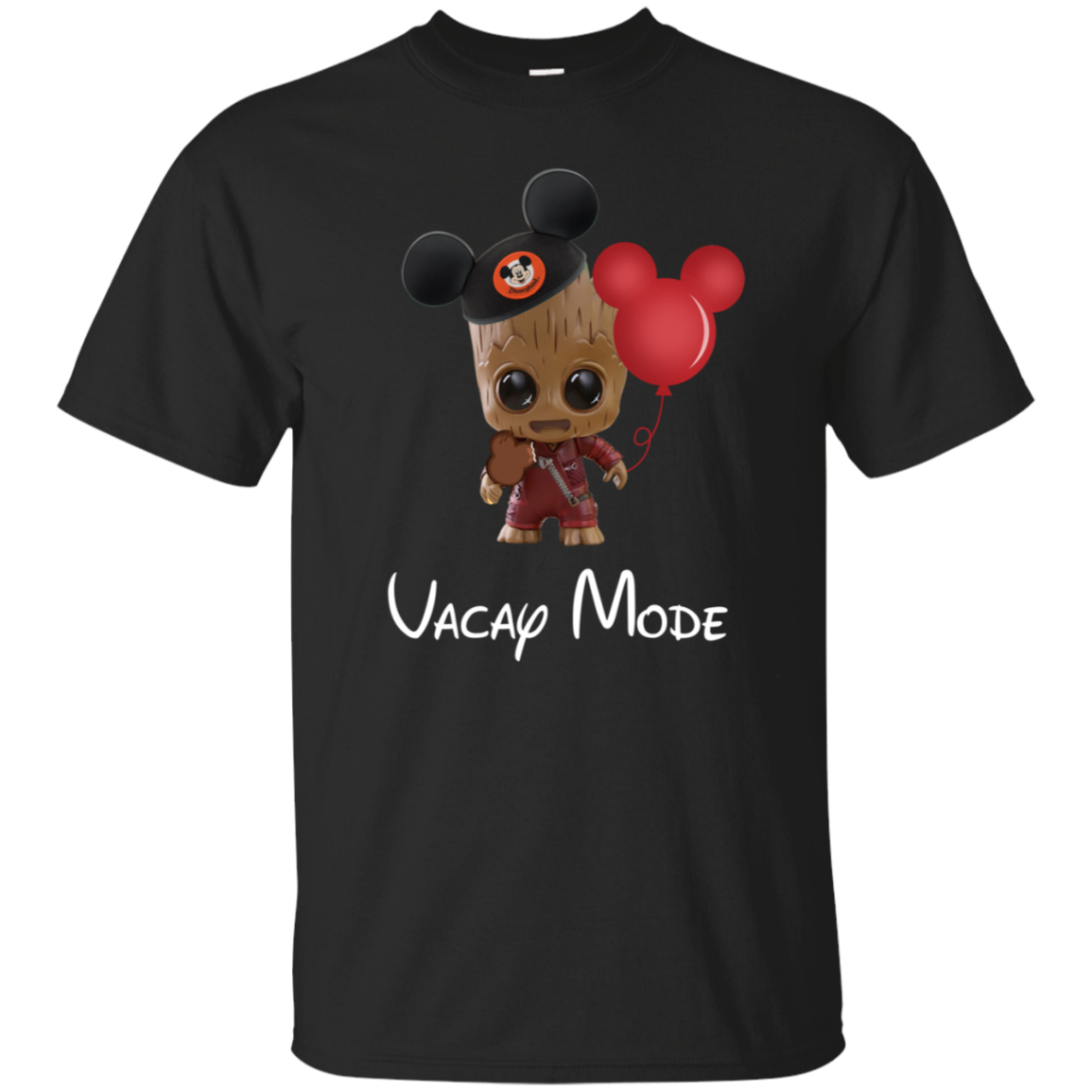 Funny Little Groot wear mickey hat Gift Vacay Mode T-shirt