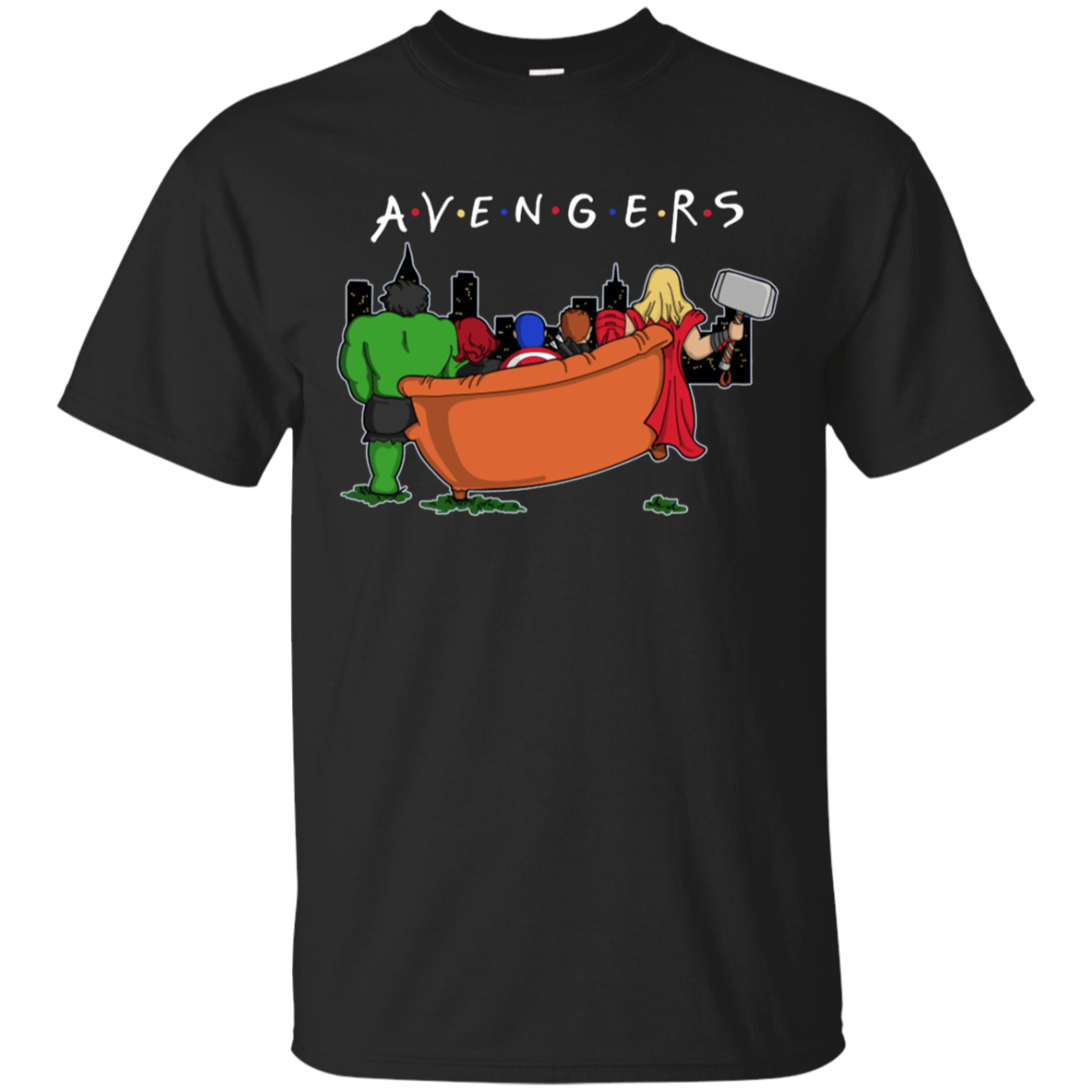 Funny Friends Movie Avengers T-shirt We'll Be There For You T-Shirt